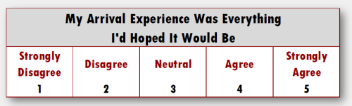 """""""My arrival experience was everything I had hoped it would be""""."""